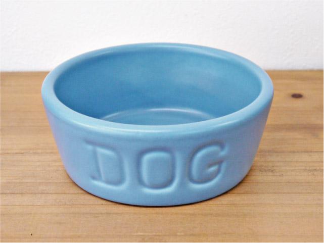 BAUER POTTERY バウアーポッタリー DOG BOWL ドッグボウル Sサイズ・ブルー(マットシリーズ)