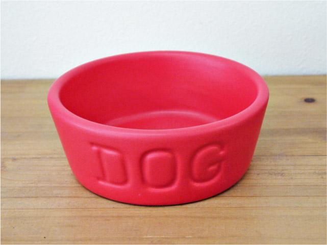 BAUER POTTERY バウアーポッタリー DOG BOWL ドッグボウル Sサイズ・レッド(マットシリーズ)