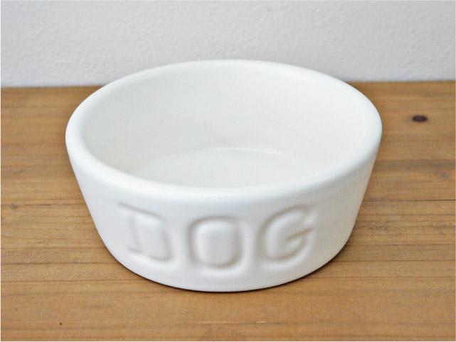 BAUER POTTERY バウアーポッタリー DOG BOWL ドッグボウル Sサイズ・ホワイト(マットシリーズ)