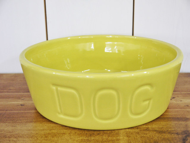 BAUER POTTERY DOG BOWL Mサイズ・シャトルーズ
