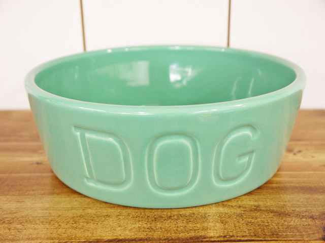 BAUER POTTERY DOG BOWL Mサイズ・ターコイズ