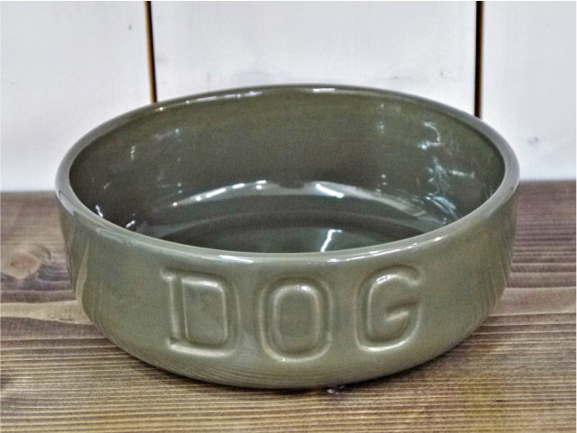 BAUER POTTERY バウワーポテリー NEW DOGBOWL シイタケ