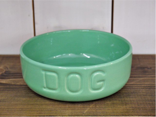 BAUER POTTERY バウワーポテリー NEW DOGBOWL ターコイズ