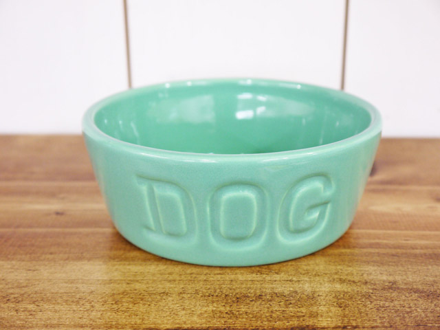 BAUER POTTERY DOG BOWL Sサイズ・ターコイズ