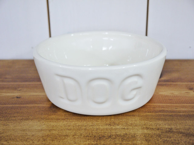 BAUER POTTERY DOG BOWL Sサイズ・ホワイト
