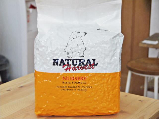ナチュラルハーベスト ベーシックフォーミュラ ナーサリー(幼犬・小型犬用) 大袋4kg