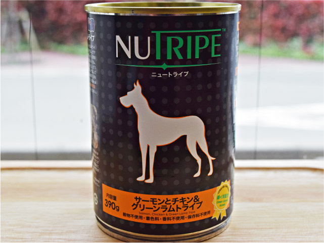 NUTRIPE ニュートライプ サーモンとチキン&グリーンラムトライプ 390g