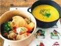 D&W コンシェルマルシェ クリスマスディナー ローストチキンとかぼちゃスープ