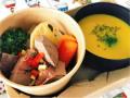 D&W コンシェルマルシェ クリスマスディナー ポークレバーフォアグラ風とかぼちゃスープ