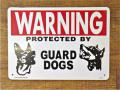 アメリカンサインボード 「WARNING GUARD DOGS」
