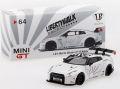 MiniGT 1/64 LB☆WORKS ニッサン GT-R (R35) Type 1 RearWing Ver.1+2 (ホワイト) RHD