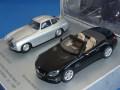ノレブ製 (ミュージアム特注) 1/43 メルセデスベンツ 300SL 1952 (シルバー) / SL-Class 2012 (ブラック) 60周年記念 2台セット
