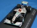 ミニチャンプス製 (ミュージアム特注) 1/43 メルセデス GP ペトロナス ショーカー シューマッハ 2010 限定200台