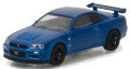 グリーンライト (TokyoTorque Series1) 1/64 ニッサン スカイライン GT-R R34 2002 (ベイサイドブルー)
