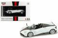 MiniGT (香港限定) 1/64 パガーニ ウアイラ ロードスター (ホワイト/ブラックストライプ) RHD