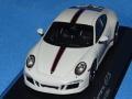 スパーク製 (ミュージアム特注) 1/43 ポルシェ 911 (991) カレラ GTS 2015 Rennsport Reunion Edition (グレー) 限定500台