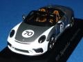 スパーク製 (ディーラー特注) 1/43 ポルシェ 911 (991/II) スピードスター ヘリテージデザイン パッケージ #70 (GTシルバー)