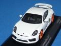 """ミニチャンプス製 (car.tima 特注) 1/43 ポルシェ ケイマン GT4 """"10.PFF"""" Jahrestreffen inder Motorworld Region Stuttgart 2017 (ホワイト) 限定50台"""