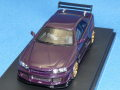 hpi-racing (アド特注・新宿おもちゃカーニバル限定) 1/43 トミーカイラ R (R34) (ミッドナイトパープル)