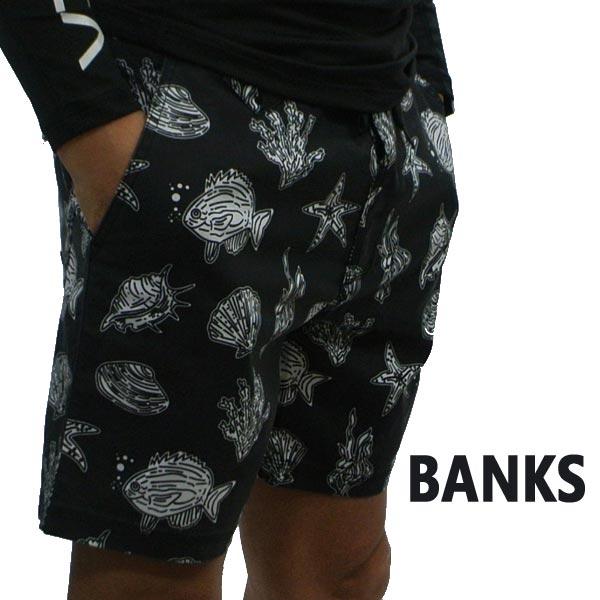 BANKS/バンクス SUBMERGE BOARDSHORTS DIRTY BLACK 男性用 サーフパンツ ボードショーツ サーフトランクス 海パン 水着 メンズ BS0128[返品、交換及びキャンセル不可]