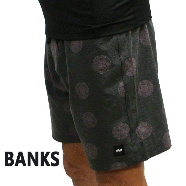 BANKS/バンクス SOLAR BOARDSHORTS DIRTY BLACK 男性用 サーフパンツ ボードショーツ サーフトランクス 海パン 水着 メンズ BS0167[返品、交換及びキャンセル不可]