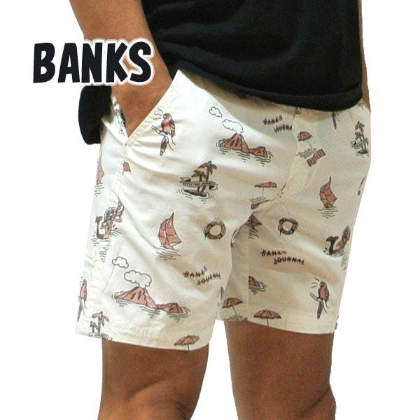BANKS/バンクス SEASHORE BOARDSHORTS OFF WHITE 男性用 サーフパンツ ボードショーツ サーフトランクス 海パン 水着 メンズ BSE0247[返品、キャンセル不可]