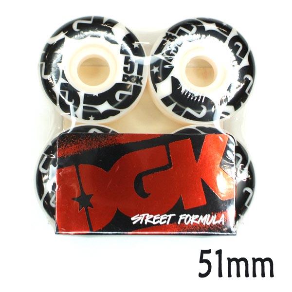 DGK/ディージーケー STREET FORMULA WHEELS 51mm WHEEL/ウィール スケボー SK8 コニカルシェイプ [返品、交換及びキャンセル不可]