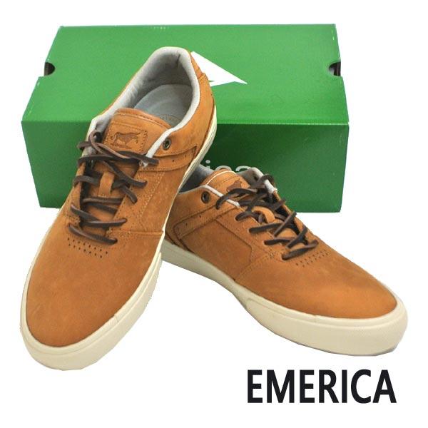 EMERICA/エメリカ THE LOW VULC BROWN 靴 スケートボードシューズ スニーカー 200 [サイズのある場合のみ交換可能 返品キャンセル一切不可]