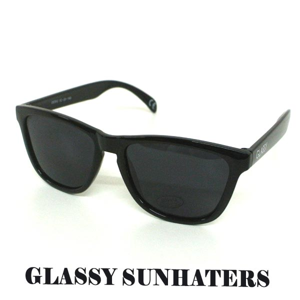 GLASSY SUNHATERS/グラッシーサンヘイターズ サングラス DERIC POLARIZED BLACK サングラス EYEWEAR/アイウェア 偏光レンズ 黒[返品、交換及びキャンセル不可]