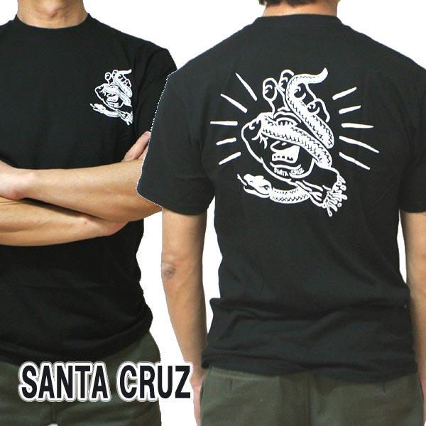 SANTA CRUZ/サンタクルズ SNAKE BITE S/S REGULAR TEE BLACK Tシャツ T-shirts 半袖 丸首 スクリーミングハンド [返品、交換及びキャンセル不可]