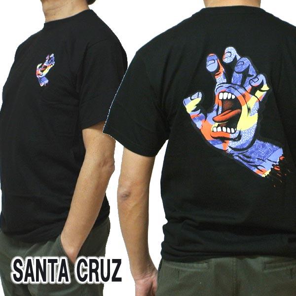 SANTA CRUZ/サンタクルズ PRIMARY HAND S/S REGULAR TEE BLACK Tシャツ T-shirts 半袖 丸首 スクリーミングハンド [返品、交換及びキャンセル不可]