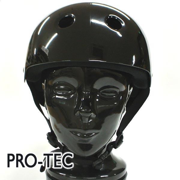 PRO-TEC/プロテック CLASSIC SKATE HELMET GROSS BLACK スケートヘルメット SKATEBOARDS SK8用 大人用 [返品、交換及びキャンセル不可]