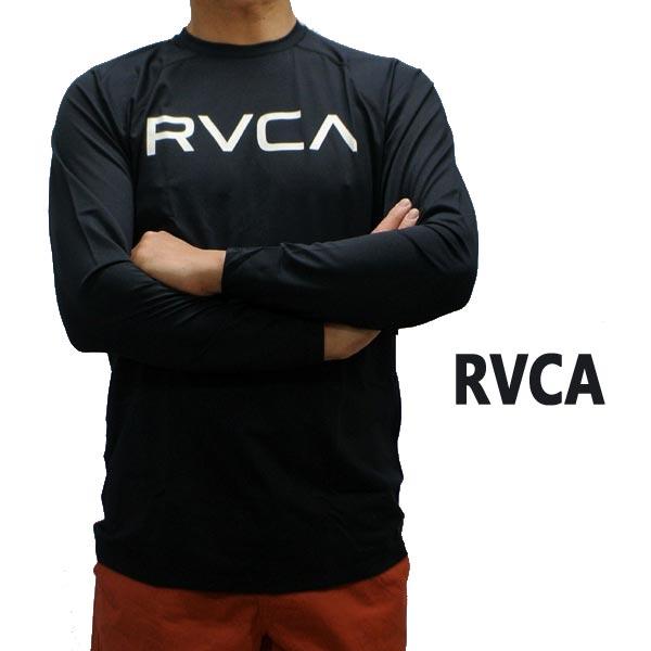 RVCA/ルーカ メンズ長袖 サーフラッシュ MICRO MESH L/S SURF TOP BLACK UVA/UVB 男性用水着 UVカット [返品、交換及びキャンセル不可]