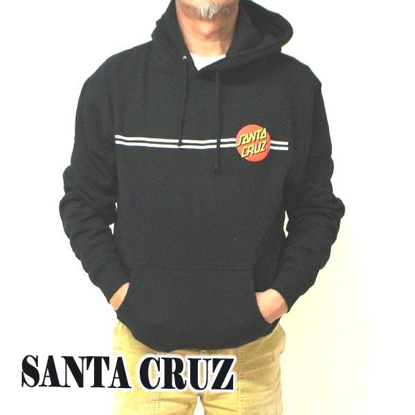 SANTA CRUZ/サンタクルズ CLASSIC DOT PULLOVER HOODED HEAVYWEIGHT SWEATSHIRT BLACK 長袖 フード付き プルオーバー 裏起毛 スウェット メンズ 4518 [返品、交換及びキャンセル不可]