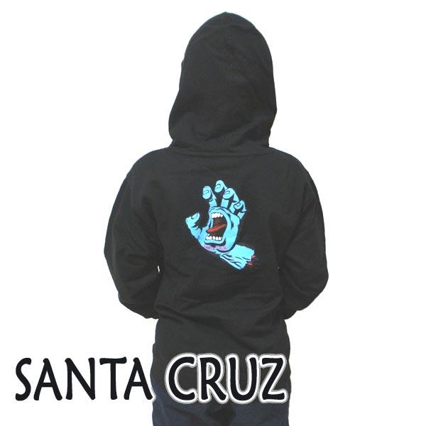 SANTA CRUZ/サンタクルズ サンタクルーズ ボーイズ SCREAMING HAND P/O HOODED MIDWEIGHT YOUTH 子供用 プルオーバー フード付き YOUTH 胸元HANDプリント [返品、交換及びキャンセル不可]