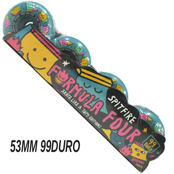 SPIT FIRE/スピットファイヤー FORMULA FOUR SK8 LIKE GIRL BLUE 53mm 99DURO スケートボード SPITFIRE WHEEL/ウィール スケボー SK8[返品、交換及びキャンセル不可]