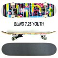 BLIND/ブラインド コンプリートスケートボード/スケボー LOGO GLITCH FP YOUTH WHITE 7.25 SK8 子供用  [返品、交換及びキャンセル不可]
