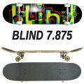 BLIND/ブラインド コンプリートスケートボード/スケボー LOGO GLITCH BLACK 7.875 SK8   [返品、交換及びキャンセル不可]