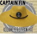 CAPTAIN FIN/キャプテンフィン KOOKMEYER STRAW HAT BROWN HAT/ハット 帽子 日よけ 麦わら ストローハット