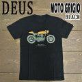 DEUS EX MACHINA/デウス エクス マキナ MOTO GRIGIO TEE BLACK S/S 半袖Tシャツ 41808N