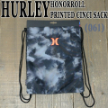 HURLEY/ハーレー HONOR ROLL PRINTED CINCH SACK BLK/BLK/TORG バックパック リュック