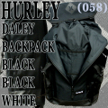 HURLEY/ハーレー DALEY BACKPACK BLK/BLK/WHT バックパック リュック