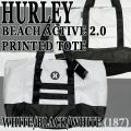 HURLEY/ハーレー BEACH ACTIVE 2.0 TOTE WHITE/BLACK/WHITE トートバッグ 手提げ ビーチバッグ