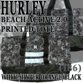 HURLEY/ハーレー BEACH ACTIVE 2.0 PRINTED TOTE WHITE/HYPER ORANGE/BLACK トートバッグ 手提げ ビーチバッグ