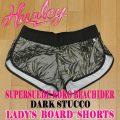 HURLEY/ハーレー レディース LADYS SUPERSUEDE KOKO BEACHRIDER BOARDSHORTS DARK STUCCO 女性用 サーフパンツ ボードショーツ サーフトランクス 海パン 水着 AA5067