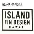 ISLAND FIN DESIGN/アイランドフィンデザイン LOGO STICKER/ステッカー CLEAR BLACK[返品、交換及びキャンセル不可]