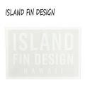 ISLAND FIN DESIGN/アイランドフィンデザイン LOGO STICKER/ステッカー CLEAR WHITE[返品、交換及びキャンセル不可]