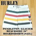 HURLEY/ハーレー PENDLETON GLACIER BEACHSIDE 18 BOARDSHORTS SAIL 男性用 ペンデルトンコラボ サーフパンツ ボードショーツ サーフトランクス MENS 海水パンツ 水着 海パン AJ9293