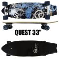 QUEST/クエスト SKULL CITY 33 CRUISER LONGBOARD ロングスケートボード/サーフスケート SK8   [返品、交換及びキャンセル不可]