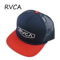 RVCA/ルーカ RVCA STAPLE FOAMY TRUCKER HAT NAVY/RED CAP/キャップ HAT/ハット 帽子 日よけ NRD[返品、交換及びキャンセル不可]